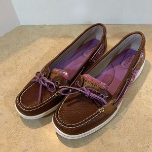 Sperry Angelfish Boat Shoes, Women's!  Like new!!